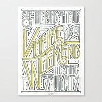 vampire weekend Canvas Prints featuring Vampire Weekend Band Poster by Cory Van Andel