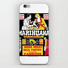 Marihuana Poster (Reefer Madness) iPhone Skin