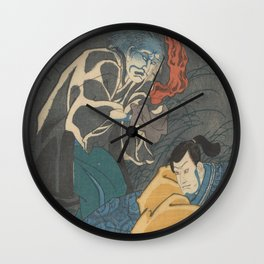 Ghost Tormenting Orikoshi Taryo  Wall Clock
