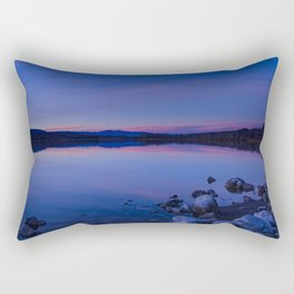 Pahranagat National Wildlife Refuge Sunset #1 Rectangular Pillow