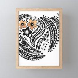 Polynesian Tribal Framed Mini Art Print