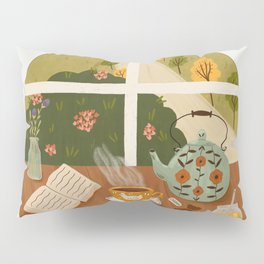 Tea Time by the Window Pillow Sham
