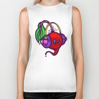 fat Biker Tanks featuring Fat Beets by Artistic Dyslexia