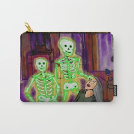 Glowing Green Skeleton Dream Carry-All Pouch