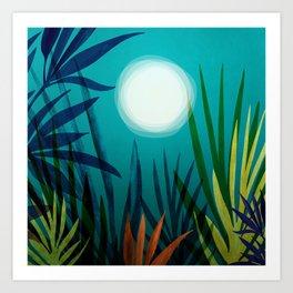 Midnight In The Jungle Art Print