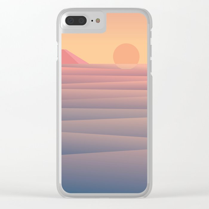 By the Sea Clear iPhone Case