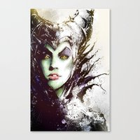 maleficent Canvas Prints featuring Maleficent by Vincent Vernacatola