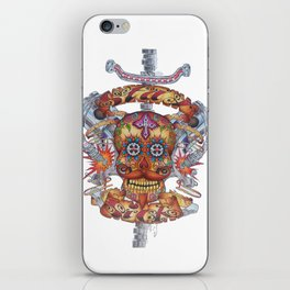 Mutant Day of the Dead Skull iPhone Skin