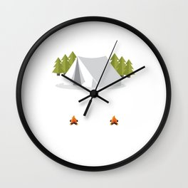 Nothing I Love More than Camping Graphic T-shirt Wall Clock
