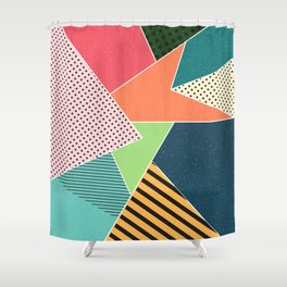 color segments 001 Shower Curtain