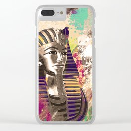 King Tut  Mask Abstract composition Clear iPhone Case