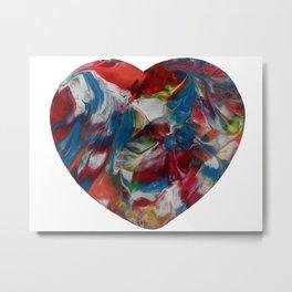 Marbled Design Metal Print