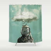 rain Shower Curtains featuring Rain by Seamless