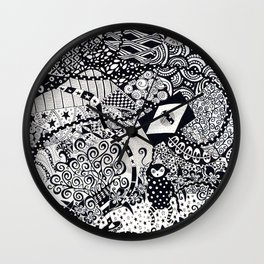 The Monkey with a Very Long Tail Wall Clock