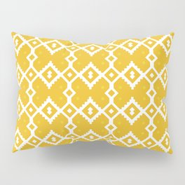 Yellow Chevron Diamond Pattern Pillow Sham