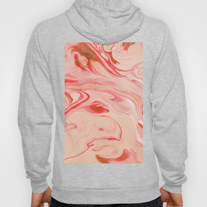 Red Mix Marble Hoody