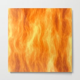 Red flame burning Metal Print