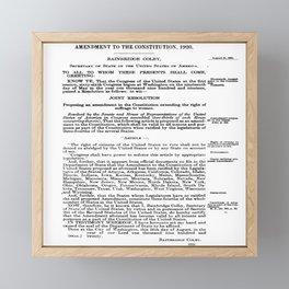 19th Amendment - Women's Right to Vote Framed Mini Art Print