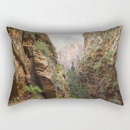 Angels Landing at Zion National Park Rectangular Pillow
