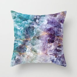 Quartz Stone - Blue and Purple Throw Pillow
