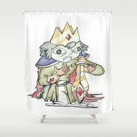 knight Shower Curtains featuring knight by Christofferson