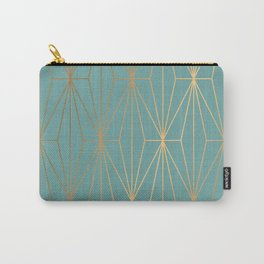 ELEGANT BLUE GOLD PATTERN Carry-All Pouch