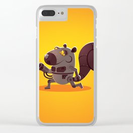 Robo Squirrel Clear iPhone Case
