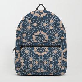 Blue Digital Flower Pattern Backpack