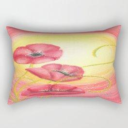Poppies in the Light Rectangular Pillow