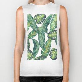 Jungle Leaves, Banana, Monstera II #society6 Biker Tank