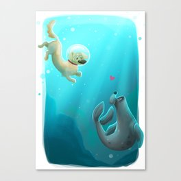 Mer-dog Canvas Print