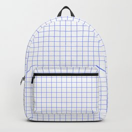 Blue Light Grid Backpack