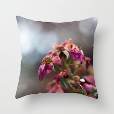 Dried Roses Throw Pillow