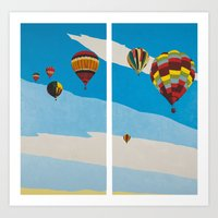 hot air balloons Art Prints featuring Hot Air Balloons by Shelley Chandelier