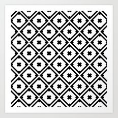 Graphic_Tile Black&White Art Print