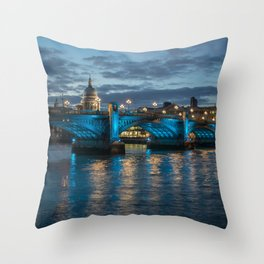 St Paul's Cathedral at Night Throw Pillow