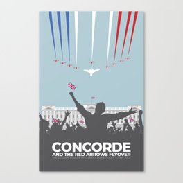 Concorde And The Red Arrows Flyover Canvas Print