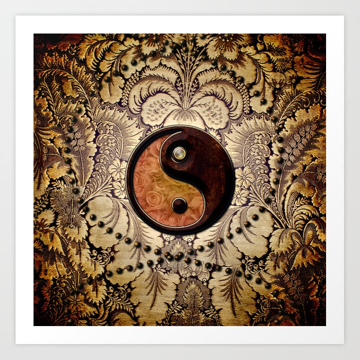 The sign ying and yang  Art Print