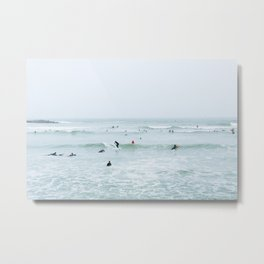 Tiny Surfers Lima, Peru 2 Metal Print