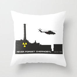 Never forget Chernobyl tragedy Throw Pillow