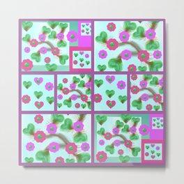 Flowery Patterns in Windows Metal Print