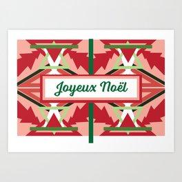 Joyeux Noël Art Print