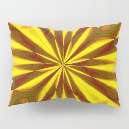 Bold Red, Green and Gold Repeating Starburst Pillow Sham
