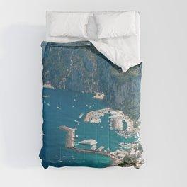 Italy, Capri Landscape View Comforters