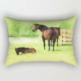 From Horse Country Rectangular Pillow