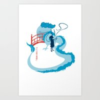 spirited away Art Prints featuring Spirited by IlonaHibernis