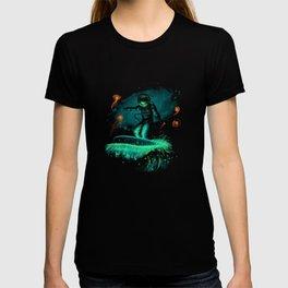Space surfer art T-shirt