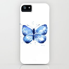 Butterfly Watercolor Blue Butterflies iPhone Case