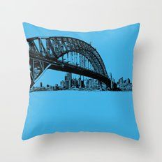 sydney in blue Throw Pillow