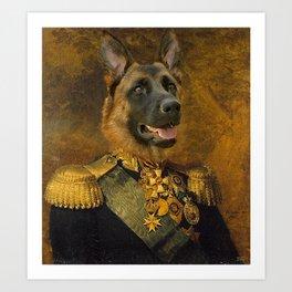 German Shepherd General Portrait Painting | Dog Lovers! Art Print